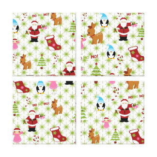 Modern and Fun Christmas Collage Gallery Wrap Canvas