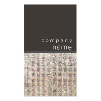 Modern and Hip FAUX Sequin Groupon Business Card Templates