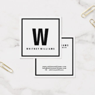 Modern and Minimal Business Cards   Black & White