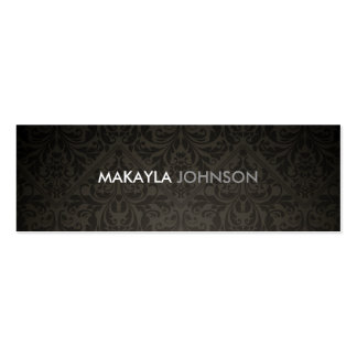 Modern and Minimal Damask Pack Of Skinny Business Cards