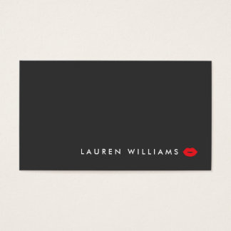 Modern and Minimal Red Lips Beauty Business Card