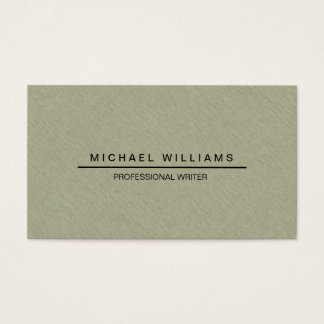 MODERN AND MINIMALIST CARDBOARD ROUGH PAPER BUSINESS CARD