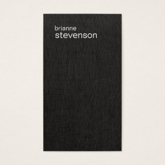 Modern and Minimalistic Faux Linen  Business Card