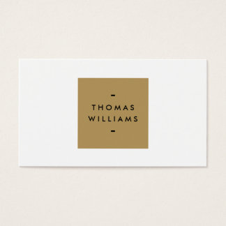 MODERN and SIMPLE GOLD BOX LOGO on WHITE Business Card