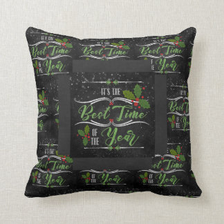 Modern and Trendy Holiday Chalkboard Typography Cushion