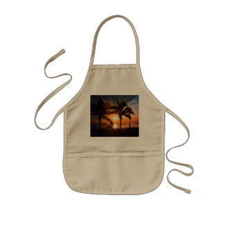 Modern and Trendy Sunset Kids Apron