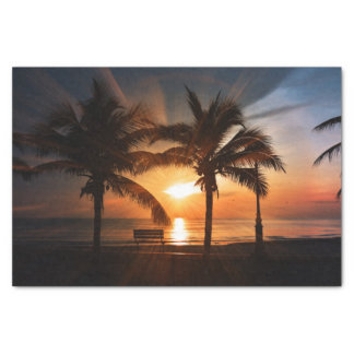 Modern and Trendy Sunset Tissue Paper