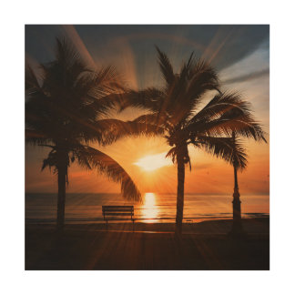 Modern and Trendy Sunset Wood Prints