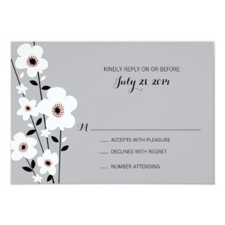 Modern Anemone | Wedding Card