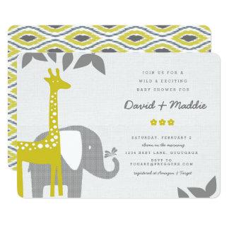 Modern Animal Safari Baby Shower Invitation