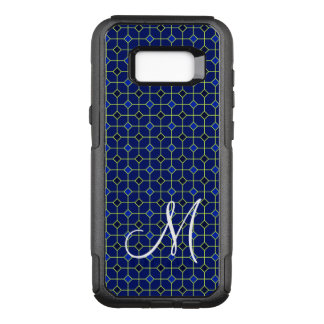 Modern Antique Tiles Pattern Design in Dark Blue OtterBox Commuter Samsung Galaxy S8+ Case