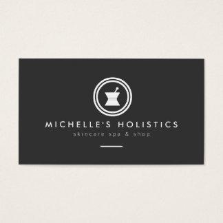 Modern Apothecary Holistic Medicine Dark Gray Business Card