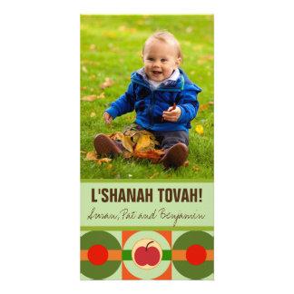 Modern Apple Rosh Hashanah Photo Card