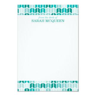 Modern Aqua Geometric Pattern Note Cards 9 Cm X 13 Cm Invitation Card