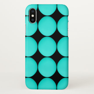Modern Aqua Stylish Pattern iPhone X Case
