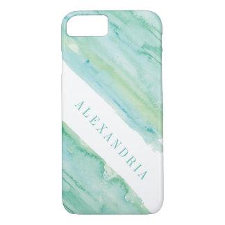 Modern Aqua Watercolor Wash iPhone 7 Case