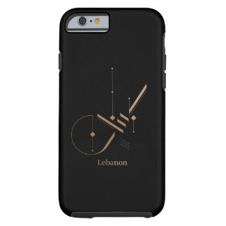 modern arabic calligraphy - Lebanon Tough iPhone 6 Case
