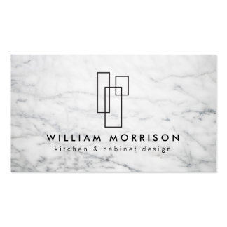 Modern Architectural Logo on White Marble Pack Of Standard Business Cards