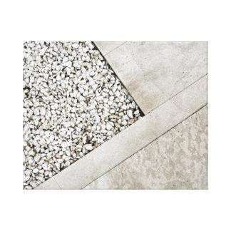 modern  architecture minimal stone pavement rock canvas print