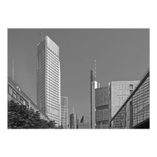 Modern architecture of Frankfurt Photo Print