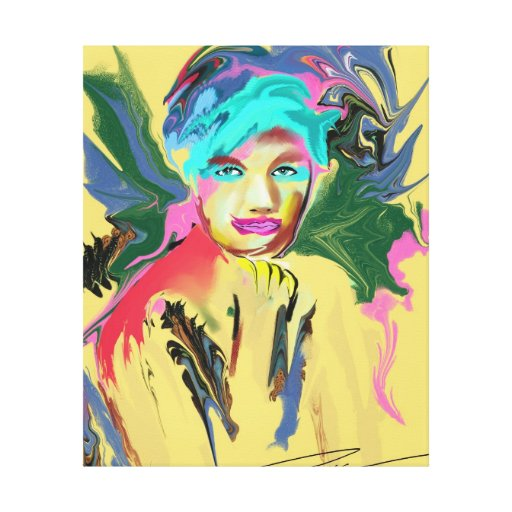 Modern Art - Butterfly kisses Stretched Canvas Prints