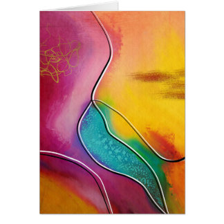 Modern art card