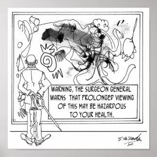 Modern Art Cartoon 1365 Poster