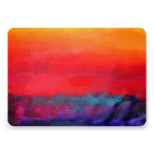 Modern Art Colorful Abstract Painting Custom Announcements
