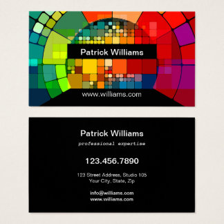 Modern Art Colourful Professional Business Card