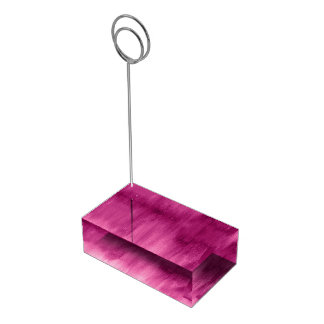 Modern art dark pink table number stands