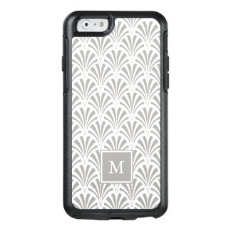 Modern Art Deco   Gray and White with Monogram OtterBox iPhone 6/6s Case