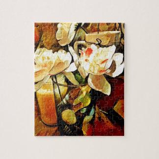 Modern Art Floral Jigsaw Puzzle