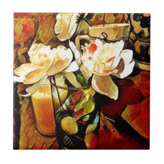 Modern Art Floral Tile