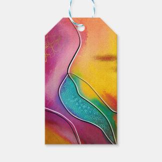 Modern art gift tags