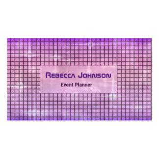 Modern Art Glam Purple Pack Of Standard Business Cards