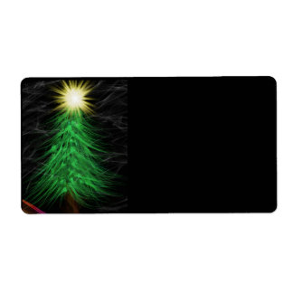 Modern Art Merry Christmas Shipping Label