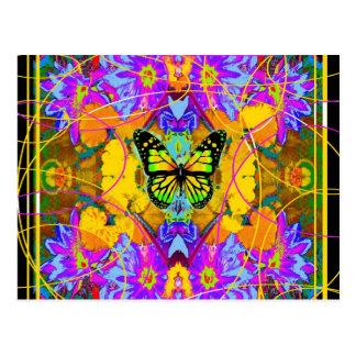 Modern Art Monarch Butterfly Daeden by Sharles Postcard