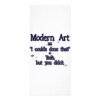 Modern Art Personalized Rack Card