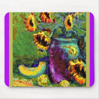 Modern Art Purple Vase Sunflower gifts bySharles Mousepad