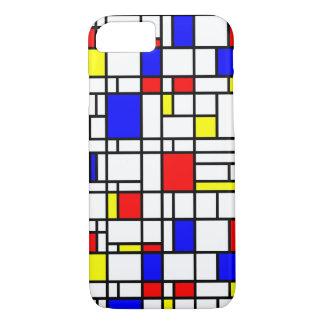 Modern Art Red Yellow Blue Pattern iPhone Case