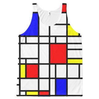 Modern Art Red Yellow Blue Pattern Tank Top