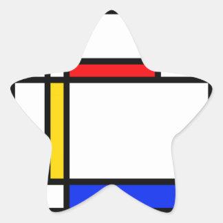 Modern Art Star Sticker