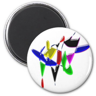 Modern art texture 6 cm round magnet