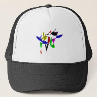 Modern art texture trucker hat