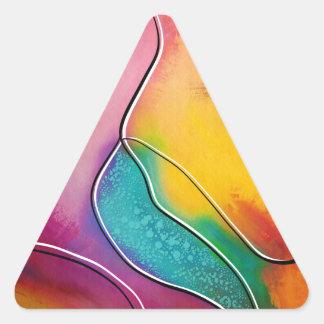 Modern art triangle sticker