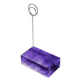 Modern art ultraviolet purple table number stands