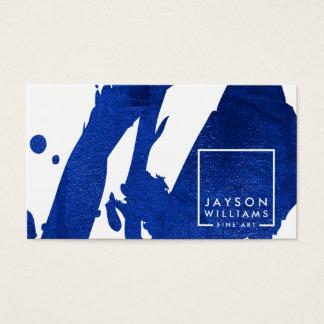 Modern Artist Abstract Blue Brushstrokes Designer
