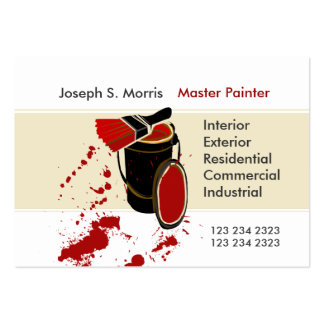 Modern Artist Skilled House Painting Business Card Templates