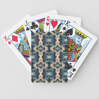 Modern Artistic Blue Cream Tribal Pattern Bicycle Playing Cards
