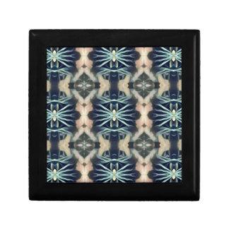 Modern Artistic Blue Cream Tribal Pattern Gift Box